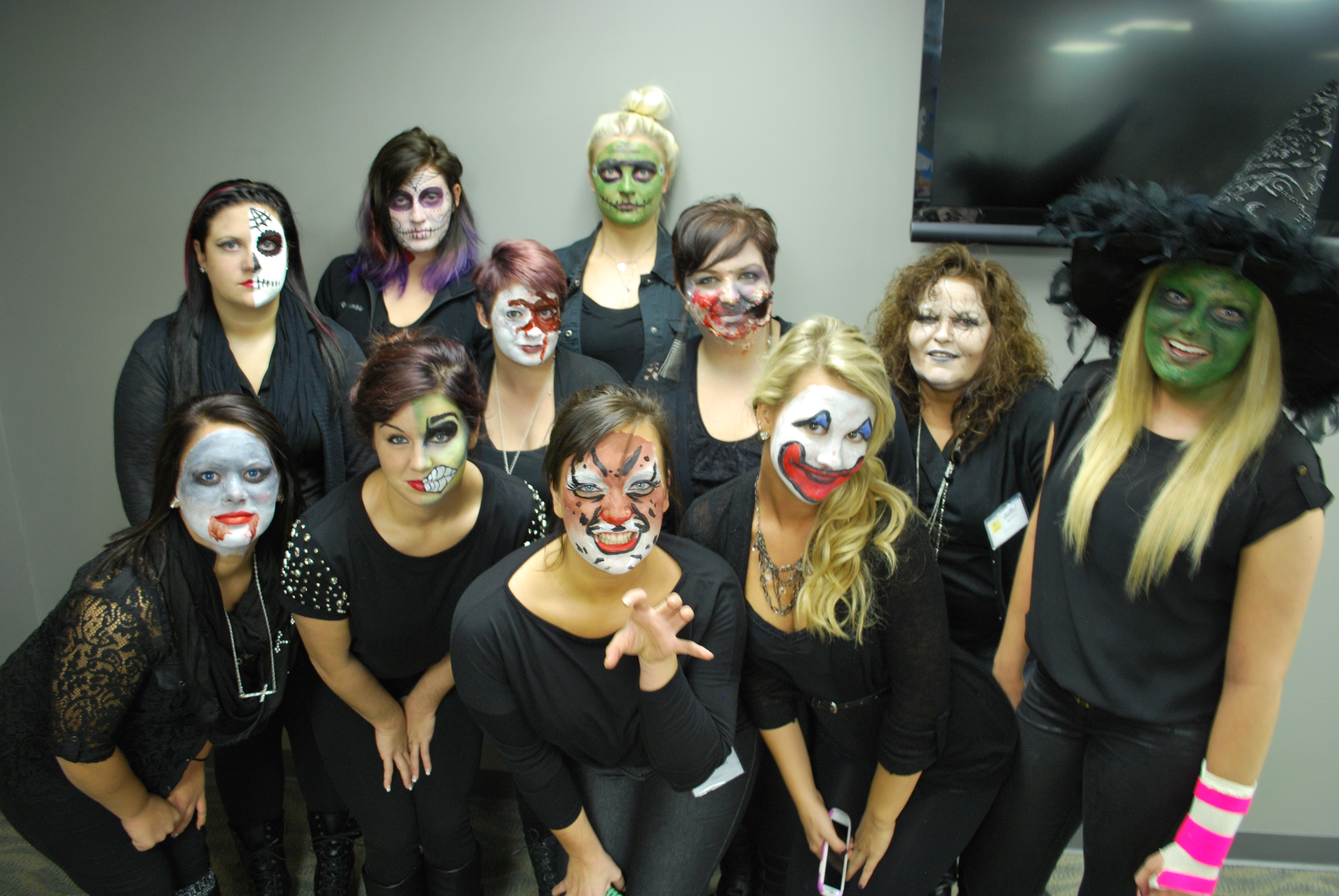 Halloween Makeup at Amber's Beauty School