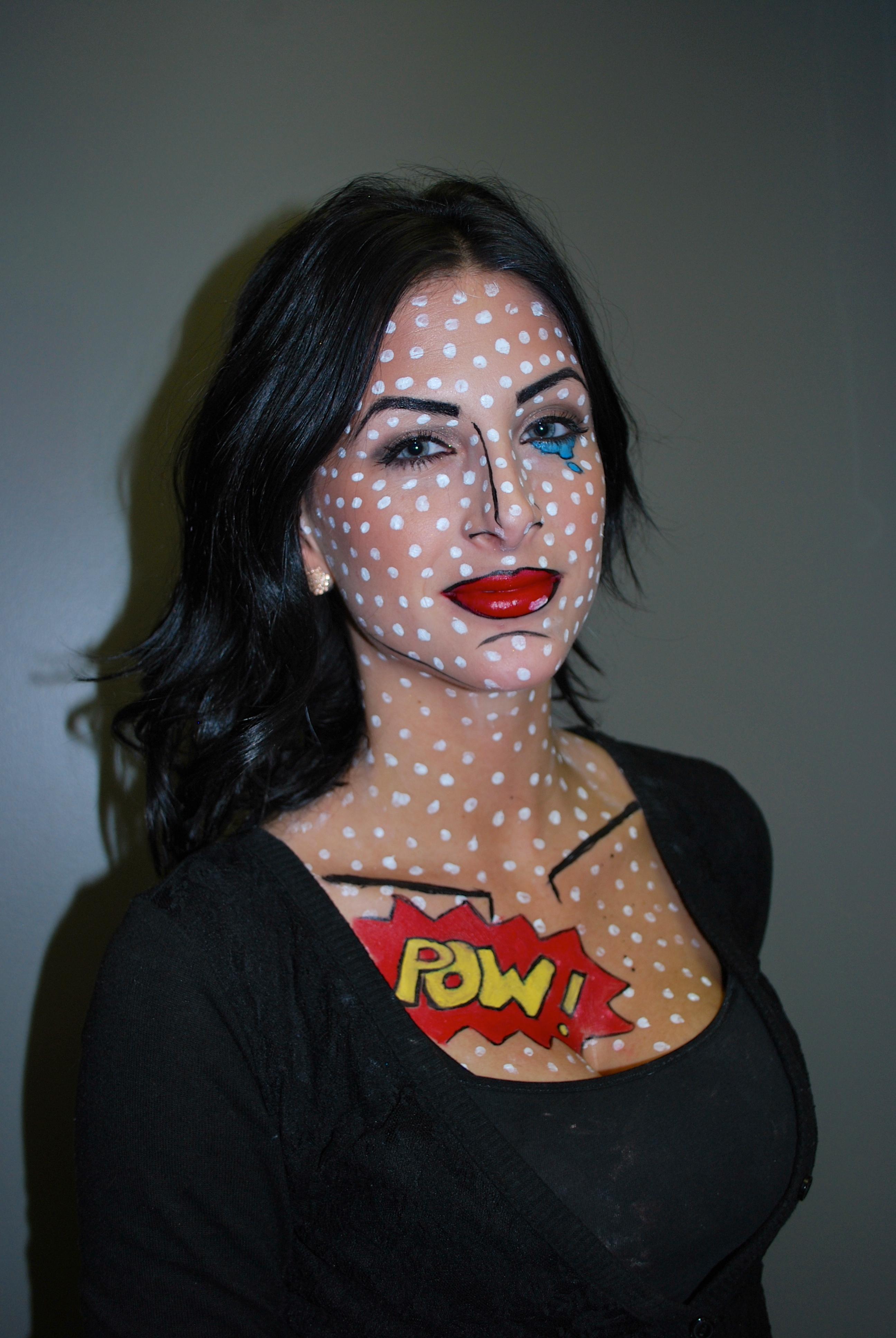 Amber's Student Lindsay Moser's Pop Art Halloween Makeup