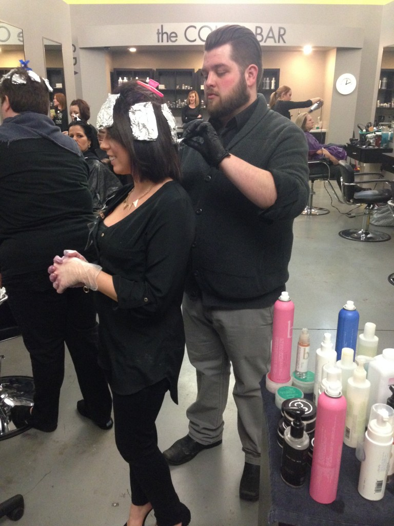 Davines Educator Josh Howard with Amber's Beauty School students