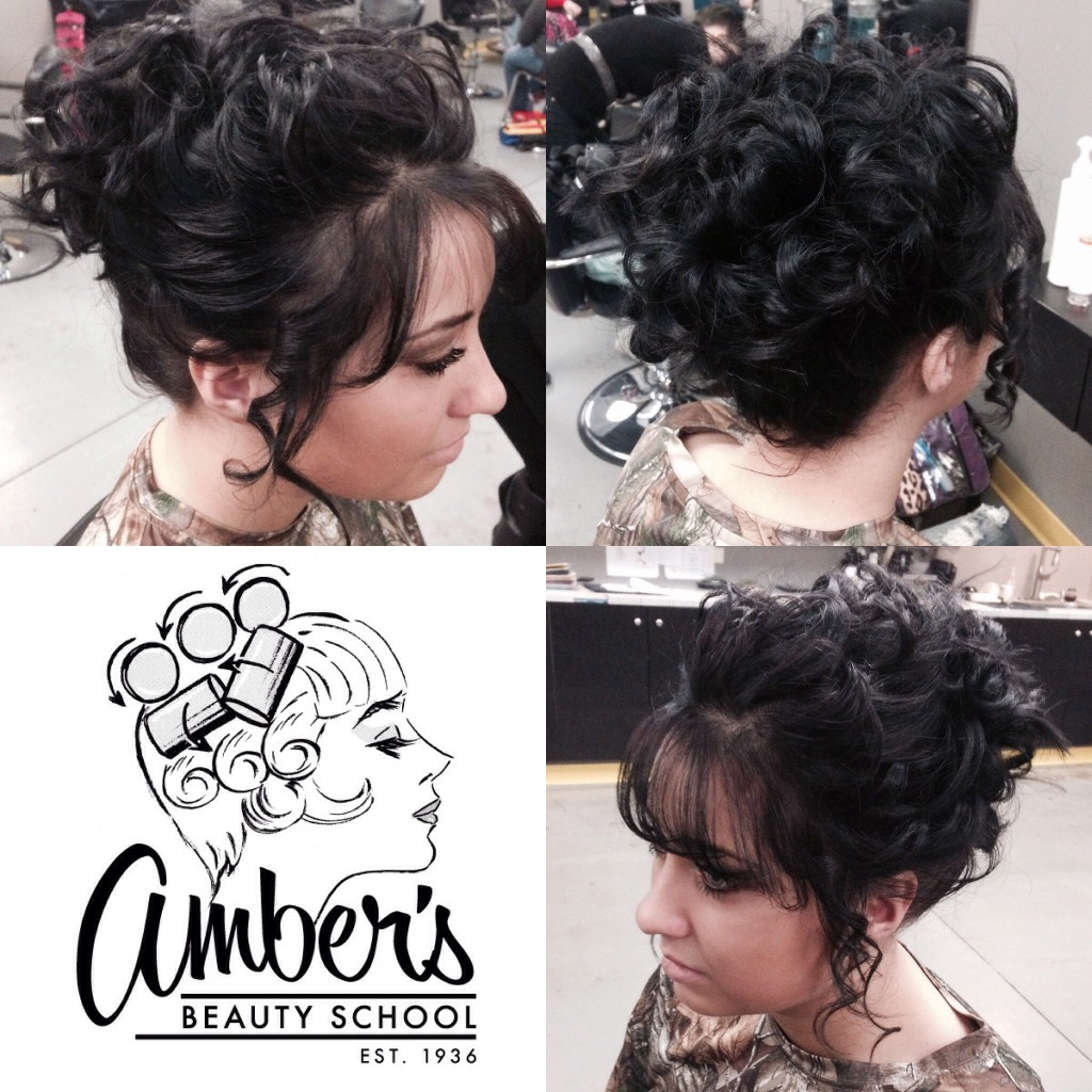Curled Updo via Amber's Beauty School