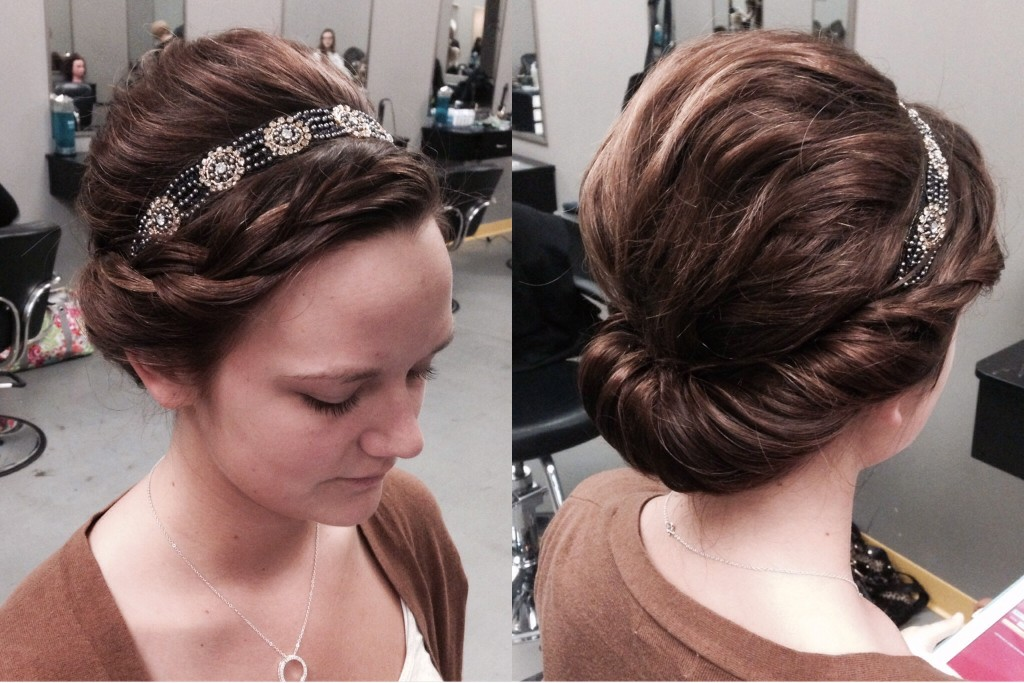 Twisted Updo via Amber's Beauty School