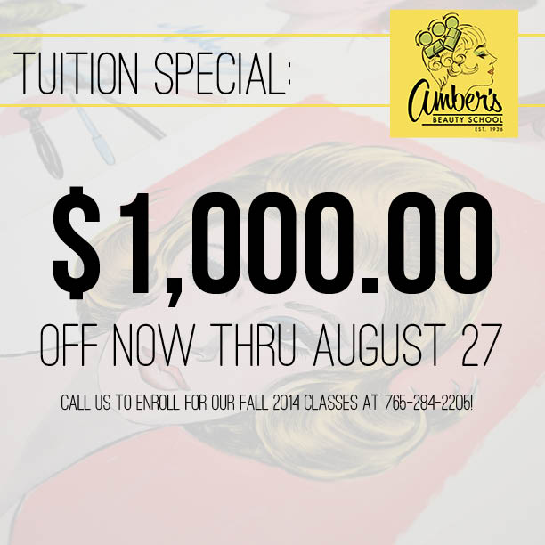 $1,000.00 Off Tuition thru Aug. 27, 2014!
