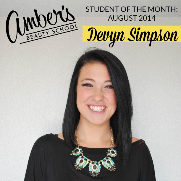Student Of The Month: August 2014: Devyn Simpson