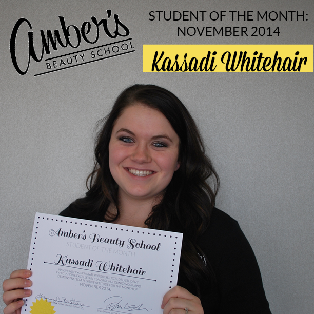 Amber's Beauty School Student Of The Month: November 2014